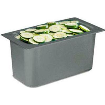 "Chill It™ Food Pan, 1/3 Size, 6"" Deep, Black, Nsf"