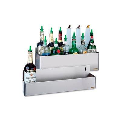 "Stainless Steel Rack Bottle Holders, 7-5/8""h x 21 1/8""w x 8""d"