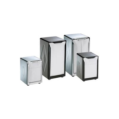 Table-Top Napkin Dispensers, 7-1/2 h x 3-3/4 w x 4 d, Black