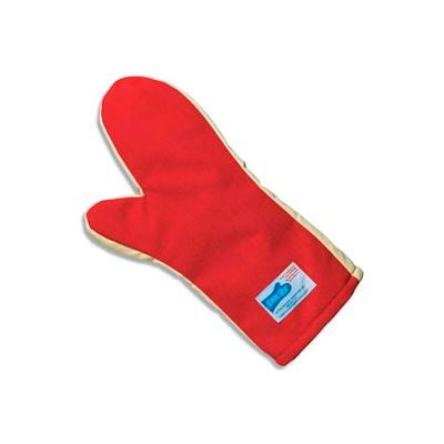 """San Jamar KT0212 - Cool Touch Flame Mitts, Ambidextrous; One Size Fits Most, Red, 12""""L"""