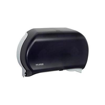 """San Jamar Twin 9"""" JBT Dispenser, Classic, Transparent Black Pearl - R4000TBK"""
