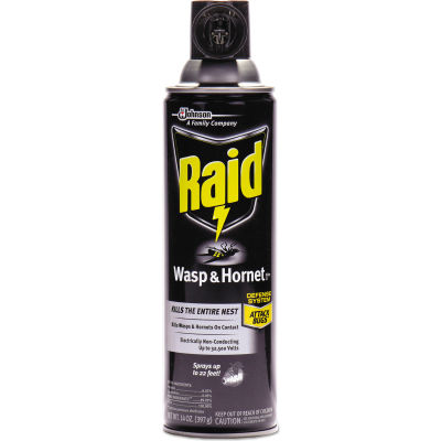 Raid® Wasp & Hornet Killer, 14 oz. Aerosol Spray, 12 Cans - 668006