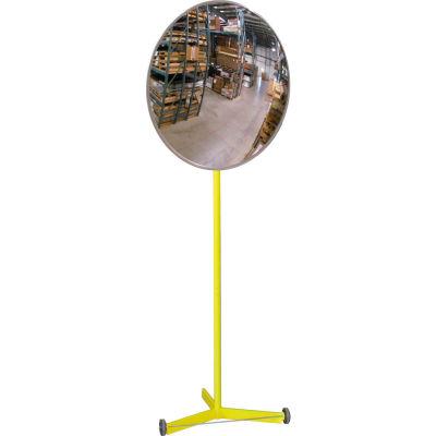 "Se-Kure™ Acrylic Indoor Convex Mirror with Portable Metal Stand, 30"" Diameter"