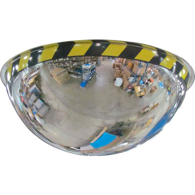 """Se-Kure™ Acrylic Full Dome Mirror with Safety Border, 18"""" Diameter"""