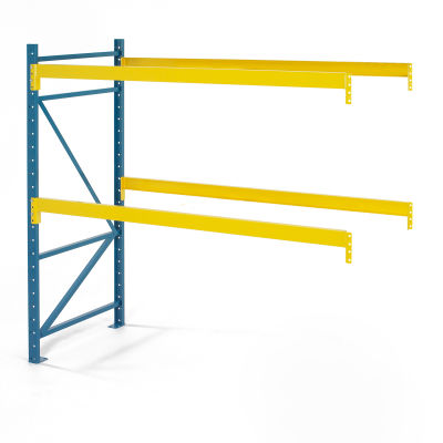 "Steel King® SK3000® Pallet Rack 96""W x 36""D x 144""H 4900 Lbs. Cap. Per Level, Add-On Unit"