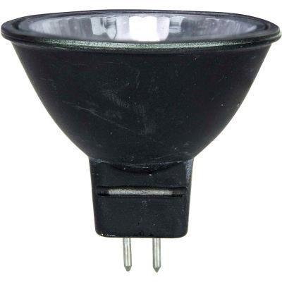 Sunlite 66080-SU 50MR16/CG/FL/12V/BB 50W Black Back MR16 Mini Reflector Halogen Bulb, GU5.3 Base - Pkg Qty 12