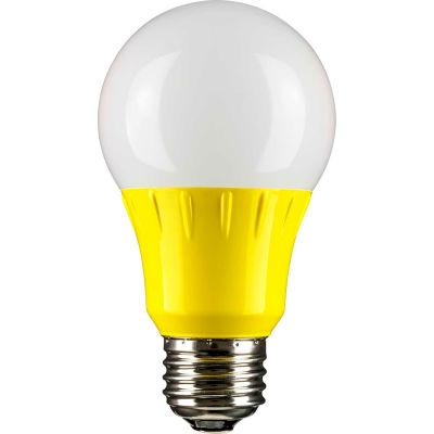 Sunlite 80149-SU A19/3W/Y/LED/CD1 3W LED Bulb, Medium Base - Pkg Qty 6