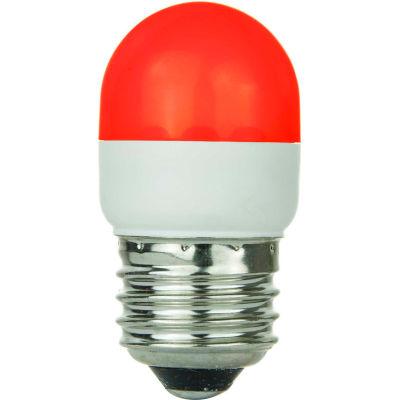 Sunlite 80253-SU T10/LED/1W/R 1W T10 Tubular Indicator, Medium Base Bulb, Red - Pkg Qty 10