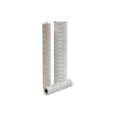 """String Wound Industrial Bleached Cotton Cartridge w/ Poly Core 20"""", 10 micron - Pkg Qty 15"""