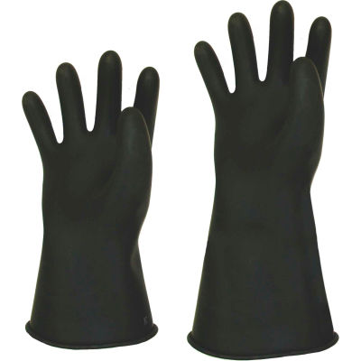 "Stanco Rubber Insulated Class 1 Glove, 14"" Length, Size 9, RLG114-9"