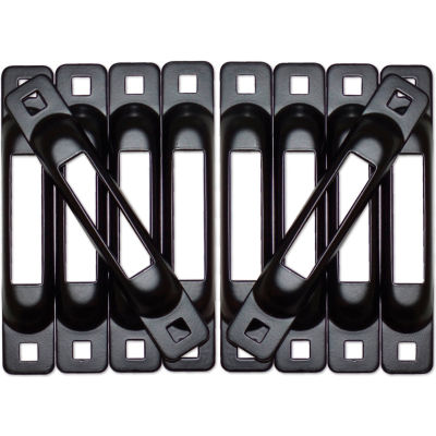 Snap-Loc™ Snaplocs E-Track Single Strap Anchors SLSBT10 - Black - 10 Pack