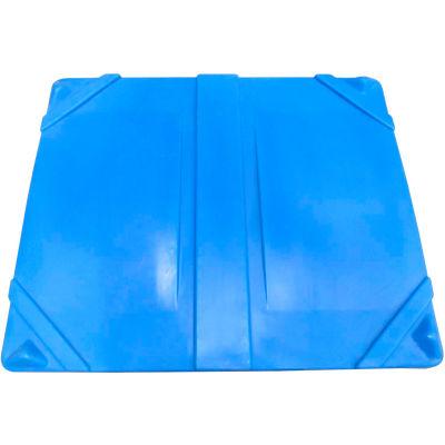 """Bonar Plastics Sani-Box Lid - 49""""L x 41""""W x 3-1/2""""H Blue"""