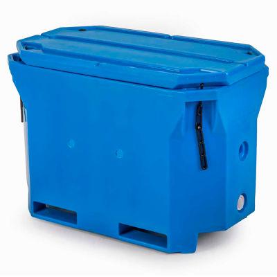 "Bonar Plastics Polar Insulated Box PB1802 with Lid - 750 Lb. Capacity 43""L x 24""W x 31""H Blue"
