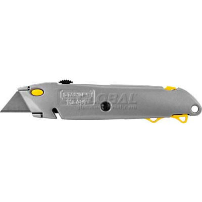 """Stanley 10-499 6-1/2"""" Quick Change Retractable Blade Utility Knife W/ String Cutter"""