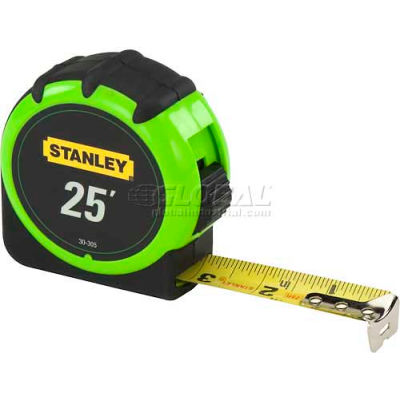 """Stanley 30-305 1"""" x 25'  High-Visibility Tape Rule"""