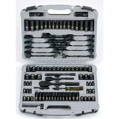 "Stanley 92-839 99 PC. 1/4"" & 3/8"" SAE/Metric Black Chrome Laser Etched Socket Set"