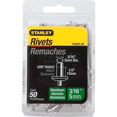 "Stanley PAA68-5B Aluminum Rivets 3/16"" x 1/2"", 50 Pack"