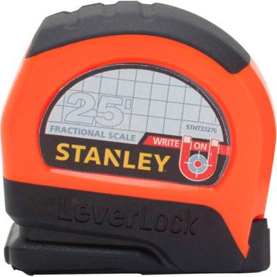 "Stanley®  Leverlock® STHT33270 Fractional Tape Rule 1"" X 25' W/ Magnetic Tip Tape Measure"