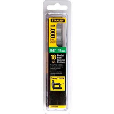 "Stanley SWKBN625S Brad Nails 5/8"", 1,000 Pack - Pkg Qty 5"