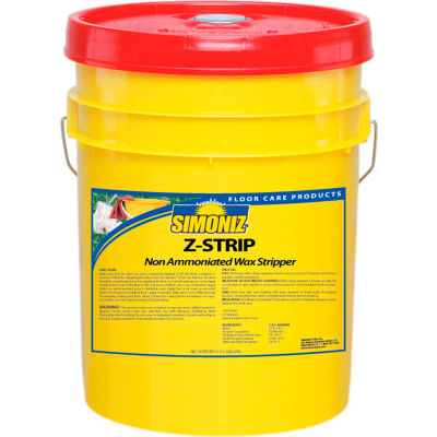 Simoniz® Z-Strip Non-Ammoniated Wax Floor Stripper, 5 Gallon Pail - Z45640005