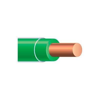 Southwire 11591501 Thhn 12 Gauge Building Wire, Solid Type, Green, 500 Ft - Pkg Qty 4