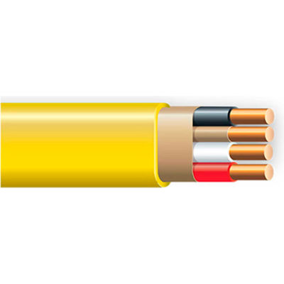 Southwire 63947623 Romex SIMpull ® Cable With Ground, Yellow, 12/3 Awg, 100 Ft - Pkg Qty 5