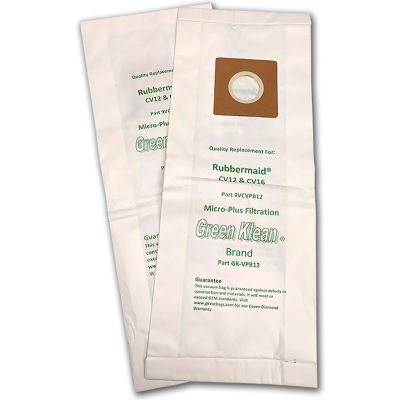 Rubbermaid - CV12 & CV16 Upright Replacement Vacuum Bags - GK-VPV12