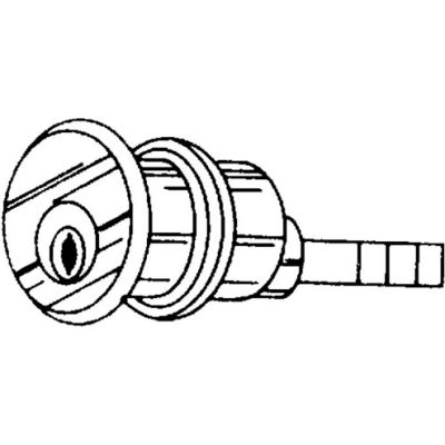 Solid Bronze Rim Cylinder - Dull Chrome Keyed Different - Pkg Qty 10