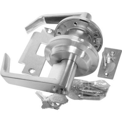 Leverset W/ 2 Step Rose Storeroom Lock - Dull Chrome - Pkg Qty 2