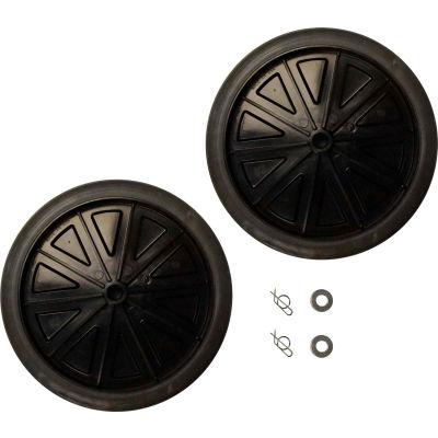 "Rubbermaid® 12"" Wheel Kit With Hardware, Black - FG9W71L2BLA"
