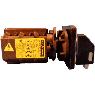 Springer Controls/MERZ A104/016-CB2,16A,3-Pole, Disconnect Switch, Black/Grey, Center-Mount, Lockout