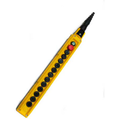 T.E.R., F70DY12001200001 MIKE Pendant, 14 Button, Yellow, 2-Speed Buttons