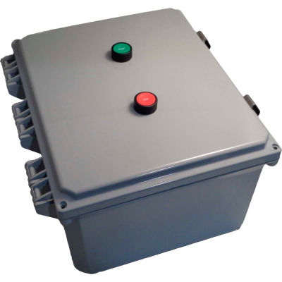 Encl Motor Starter, 50A, 3ph, direct-online voltage, 4X poly, Start/Stop, 240VAC coil, O/L 30-43A