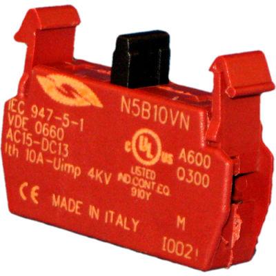 Springer Controls N5B10VN, N5 Series, 22mm Contact Block, 1NO, screw terminal.