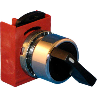 Springer Controls N5CSME0R, 3-Position Selector, 1-0-2, Maintained, RED - shown in black