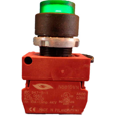 Springer Controls N5XPLASD, Illuminated Push Button, Momentary, Extended - Amber - Pkg Qty 2