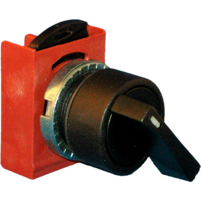 Springer Controls N5XSVU5N, 3-Position Selector, 1-0-2, Maintained 1, Spring Returns 2 to 0, BLACK