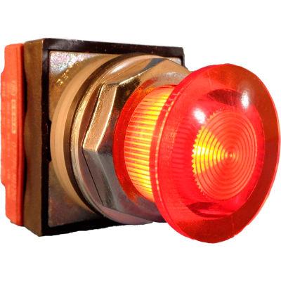 Springer Controls N7ELSAD02-120, 30mm Illuminated Mushroom-Head, Momentary, 120V, 2 N.C. - Amber