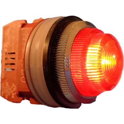 Springer Controls N7LNAT-480, 30mm Pilot Light - 480V Bulb, with Power Supply AC - Amber