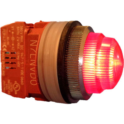 Springer Controls N7LNRR-240, 30mm Pilot Light - 240V Bulb, with Power Supply AC/DC - Red