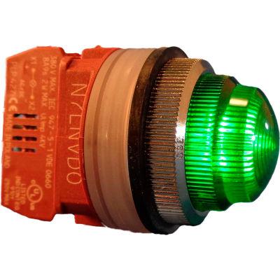 Springer Controls N7LNVR-240, 30mm Pilot Light - 240V Bulb, with Power Supply AC/DC - Green
