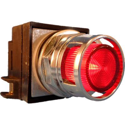 Springer Controls N7PLMRD20-24, 30mm Illum. Push-Button, Guarded, Momentary, 24V, 2 N.O., Red