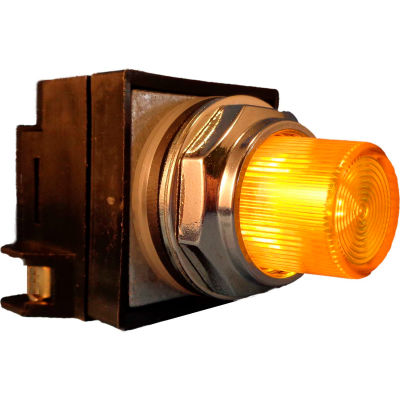 Springer Controls N7PLSGR02-120,30mm Ill. Push-Button,Extended,Momentary,120V, 1 N.O.+1 N.C.,Yellow