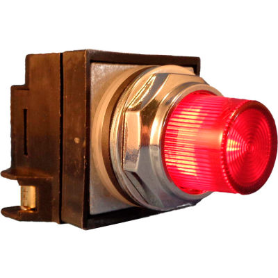 Springer Controls N7PLSRD00-120, 30mm Illum. Push-Button, Extended, Momentary, 120V, No Contacts,Red