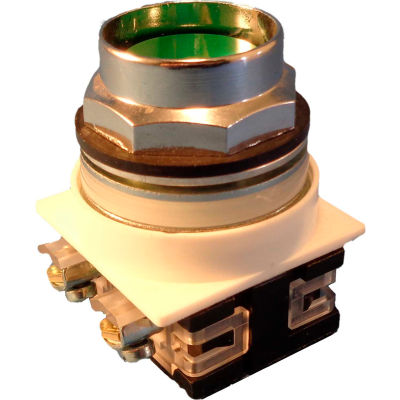 Springer Controls N7PNEV00, 30 mm Recessed Push Button, No Contacts Included, Momentary, Green
