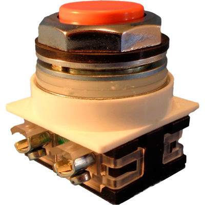 Springer Controls N7PNSA01, 30 mm Extended Push Button, 1 Normally Closed, Momentary, Amber