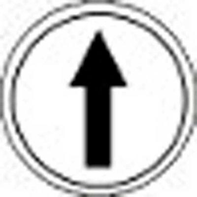T.E.R., PRTA005MPI Single Arrow White Button Insert, Use w/ MIKE & VICTOR Pendants