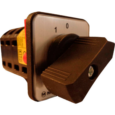 Springer Controls / MERZ W105/7-AA, Reversing Switch, Spring Returned, 3-Pole,16A,4-hole front-mount