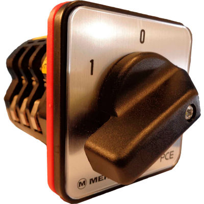 Springer Controls / MERZ Z656/3-AC, Change-Over Switch w/Zero Pos., 3-Pole, 80A, 4-hole front-mount