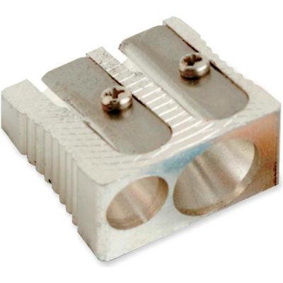 "Baumgartens® Dual Sharpener, 1"", Metal, Silver"